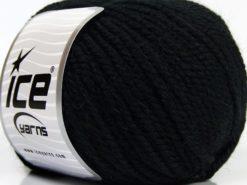 Lot of 3 x 100gr Skeins Ice Yarns PERUVIAN (25% Alpaca 25% Wool) Yarn Black