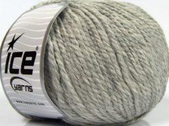 Lot of 3 x 100gr Skeins Ice Yarns PERUVIAN (25% Alpaca 25% Wool) Yarn Light Grey