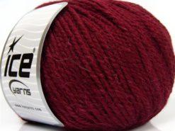 Lot of 3 x 100gr Skeins Ice Yarns PERUVIAN (25% Alpaca 25% Wool) Yarn Burgundy