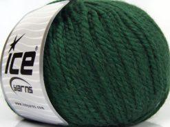 Lot of 3 x 100gr Skeins Ice Yarns PERUVIAN (25% Alpaca 25% Wool) Yarn Dark Green