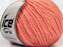 Lot of 3 x 100gr Skeins Ice Yarns PERUVIAN (25% Alpaca 25% Wool) Yarn Light Salmon