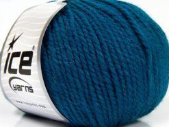 Lot of 3 x 100gr Skeins Ice Yarns PERUVIAN (25% Alpaca 25% Wool) Yarn Dark Turquoise
