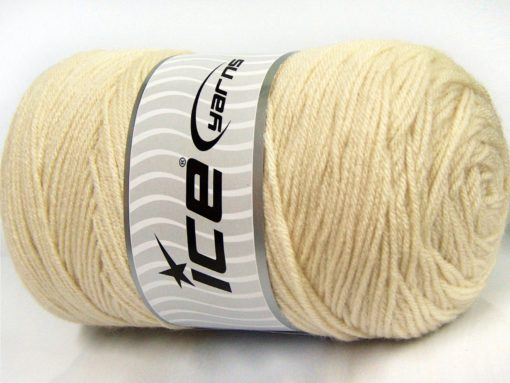 400 gr ICE YARNS SAVER 400 Hand Knitting Yarn Dark Cream