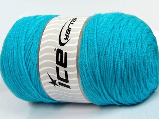 400 gr ICE YARNS SAVER 400 Hand Knitting Yarn Turquoise