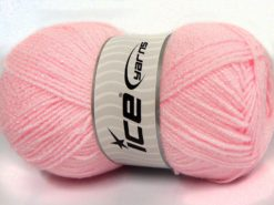 Lot of 4 x 100gr Skeins Ice Yarns SALE PLAIN (11% Viscose) Yarn Light Pink