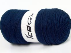 Lot of 2 x 200gr Skeins Ice Yarns SAVER Hand Knitting Yarn Navy