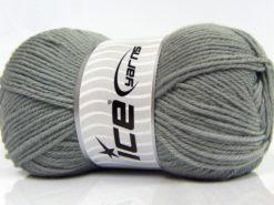Lot of 3 x 100gr Skeins Ice Yarns SUPERWASH MERINO WOOL (100% Superwash Merino Wool) Yarn Grey