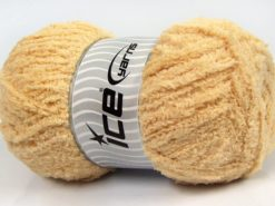 Lot of 4 x 100gr Skeins Ice Yarns PUFFY (100% MicroFiber) Yarn Dark Cream