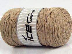 250 gr ICE YARNS MACRAME COTTON (100% Cotton) Hand Knitting Yarn Beige