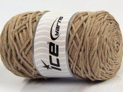 250 gr ICE YARNS MACRAME COTTON BULKY (100% Cotton) Hand Knitting Yarn Beige
