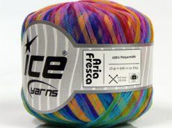 Lot of 6 Skeins Ice Yarns ARIA FRESCA Hand Knitting Yarn Rainbow