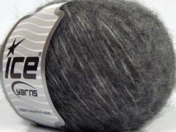 Lot of 8 Skeins Ice Yarns FLEECY WOOL (22% Wool) Hand Knitting Yarn Grey Shades