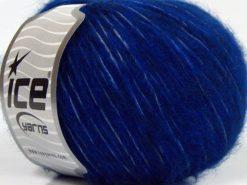 Lot of 8 Skeins Ice Yarns FLEECY WOOL (22% Wool) Hand Knitting Yarn Blue Navy