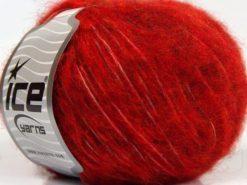 Lot of 8 Skeins Ice Yarns FLEECY WOOL (22% Wool) Yarn Dark Red Gold