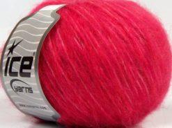 Lot of 8 Skeins Ice Yarns FLEECY WOOL (22% Wool) Hand Knitting Yarn Candy Pink