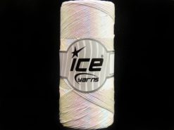 Lot of 2 x 200gr Skeins Ice Yarns METALLIC COTTON (30% Cotton) Yarn Ecru Iridescent