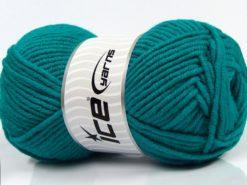Lot of 4 x 100gr Skeins Ice Yarns MERINO CHUNKY (50% Merino Wool) Yarn Emerald Green