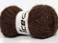 Lot of 4 x 100gr Skeins Ice Yarns SPARKLE Hand Knitting Yarn Dark Brown