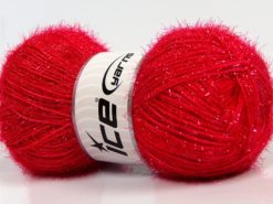 Lot of 4 x 100gr Skeins Ice Yarns SPARKLE Hand Knitting Yarn Fuchsia