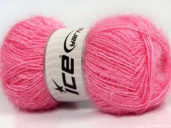 Lot of 4 x 100gr Skeins Ice Yarns SPARKLE Hand Knitting Yarn Pink