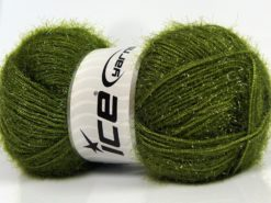Lot of 4 x 100gr Skeins Ice Yarns SPARKLE Hand Knitting Yarn Jungle Green