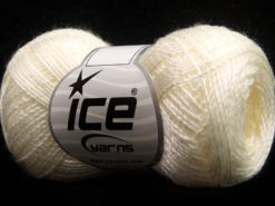Lot of 8 Skeins Ice Yarns SALE PLAIN Hand Knitting Yarn Light Cream