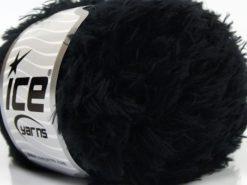 Lot of 8 Skeins Ice Yarns SALE EYELASH (100% MicroFiber) Yarn Black
