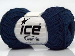 Lot of 8 Skeins Ice Yarns SALE SUMMER (50% Cotton) Hand Knitting Yarn Navy