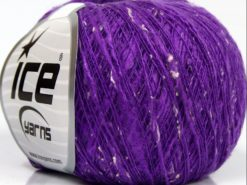 Lot of 8 Skeins Ice Yarns SALE PLAIN (12% Viscose) Hand Knitting Yarn Purple
