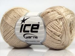 Lot of 8 Skeins Ice Yarns SALE PLAIN Hand Knitting Yarn Light Camel