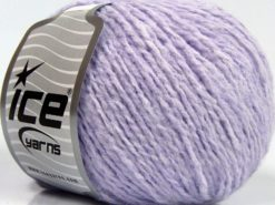 Lot of 8 Skeins Ice Yarns SALE PLAIN (7% Elastan) Yarn Light Lilac