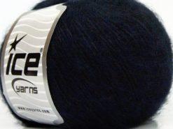 Lot of 8 Skeins Ice Yarns SALE WINTER (26% Wool) Yarn Dark Navy Black