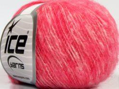 Lot of 10 Skeins Ice Yarns SALE WINTER (25% Wool 25% Cotton) Yarn Pink Melange