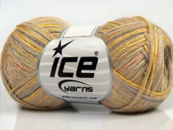 Lot of 8 Skeins Ice Yarns SALE LUXURY-PREMIUM (10% Cashmere 70% Viscose) Yarn Camel Beige Grey Gold Salmon Light Khaki