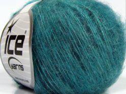 Lot of 10 Skeins Ice Yarns FLUFFY COLOR SUPERFINE (20% Wool) Yarn Turquoise Shades