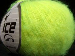 Lot of 10 Skeins Ice Yarns FLUFFY COLOR SUPERFINE (20% Wool) Yarn Neon Green Shades