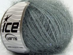 Lot of 8 Skeins Ice Yarns SPARKLE SOFT Hand Knitting Yarn Light Grey