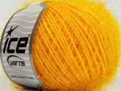 Lot of 8 Skeins Ice Yarns SPARKLE SOFT Hand Knitting Yarn Yellow