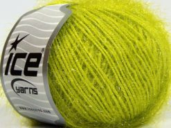 Lot of 8 Skeins Ice Yarns SPARKLE SOFT Hand Knitting Yarn Pistachio Green