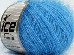 Lot of 8 Skeins Ice Yarns SPARKLE SOFT Hand Knitting Yarn Light Blue