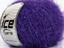Lot of 8 Skeins Ice Yarns SPARKLE SOFT Hand Knitting Yarn Purple