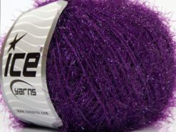 Lot of 8 Skeins Ice Yarns SPARKLE SOFT Hand Knitting Yarn Dark Purple