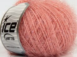 Lot of 8 Skeins Ice Yarns SPARKLE SOFT Hand Knitting Yarn Powder Pink
