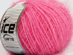 Lot of 8 Skeins Ice Yarns SPARKLE SOFT Hand Knitting Yarn Pink