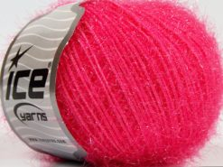 Lot of 8 Skeins Ice Yarns SPARKLE SOFT Hand Knitting Yarn Dark Pink
