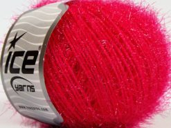 Lot of 8 Skeins Ice Yarns SPARKLE SOFT Hand Knitting Yarn Fuchsia