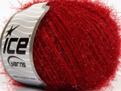 Lot of 8 Skeins Ice Yarns SPARKLE SOFT Hand Knitting Yarn Red