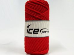 250 gr ICE YARNS COTTON ROPE (100% Cotton) Hand Knitting Yarn Red