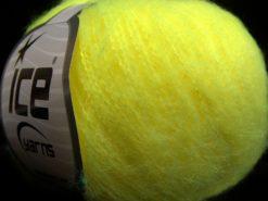 Lot of 10 Skeins Ice Yarns FLUFFY SUPERFINE (20% Wool) Yarn Neon Green