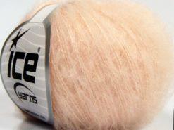 Lot of 10 Skeins Ice Yarns FLUFFY SUPERFINE (20% Wool) Yarn Light Salmon
